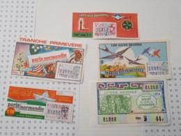 Lot De 5 Tickets Des Années 70 - Loterijbiljetten