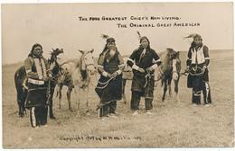INDIANS - The Four Greatest Chief's Now Living - W. H. MARTIN - Indiens De L'Amerique Du Nord