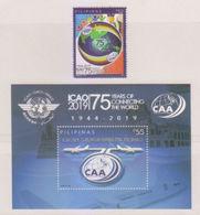 Filippine Philippines Philippinen Pilipinas 2019 International Civil Aviation Authority Complete Set - MNH** - Filippine