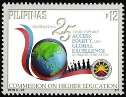 Filippine Philippines Philippinen Pilipinas 2019 Commission On Higher Education (CHED), 25th Anniversary Set - MNH** - Filippine
