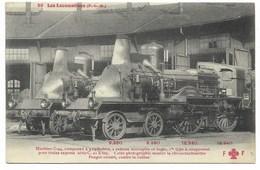 LES LOCOMOTIVES P.L.M.-Machine à Vapeur C-44 Compound à 4 Cylindres...  (coin Pli) - Trains