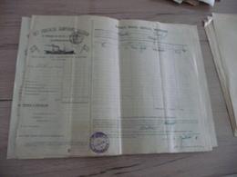 Connaissement Dampskibs Selskab Bordeaux Libau Riga Reval 1901 Verdet - Transportmiddelen
