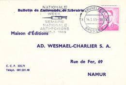 Nationale Woche Gegen Gifte 1969 Spritze Brüssel - Bücherkarte - Medicine