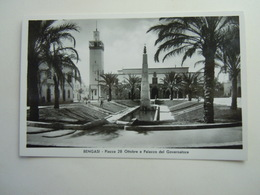 CPA - LIBYE LIBYA / LIBIA - BENGHAZI / BENGASI  -  AFRICA ITALIANA -PALAZZO DEL GOVERNATORE PIAZZA 28 OTTOBRE - Libyen