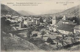 15, Cantal, MASSIAC, Vue Générale Sud Ouest - Joli Centre De Villégiatures Et D'Excursions, Scan Recto Verso - Autres Communes