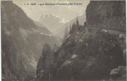 SCHWEIZ - Ligne Martigny-Chamonix Près Finhaut - 1913 - VS Wallis