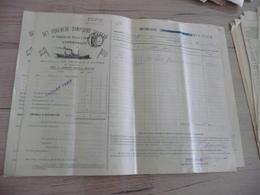 Connaissement Dampskibs Selskab Bordeaux Libau Riga Reval 1901 Olives - Transports