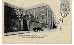 PARIS Pensionnat Des Frères Maristes 48, Rue Pernety Porte D'entrée Et Façade De La Chapelle (attelage) 1903 - Education, Schools And Universities