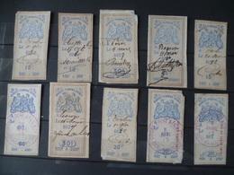 LOT TIMBRE FISCAUX - Revenue Stamps