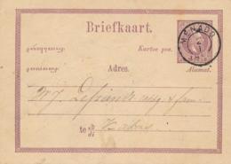 Nederlands Indië - 1885 - 5 Cent Willem III, Briefkaart G1 Lokaal KR Menado - Netherlands Indies