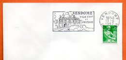 VENDOME  VILLE D'ART   1962 Lettre Entière N° MN 563 - Mechanische Stempels (reclame)