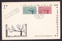 Ireland: FDC First Day Cover, 1962, 2 Stamps, CEPT, Europa, Europe, Tree (minor Corner Creases) - 1949-... Repubblica D'Irlanda
