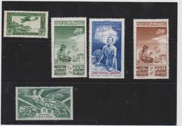 COLONIES FRANCAISES OCEANIE (POLYNESIE) 5 T Neufs Poste Aérienne Xx Et X N° YT PA 1 4 5 6 19 - Ozeanien (1892-1958)