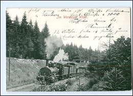 XX005272/ Eisenbahn  Im Werdauer Wald AK 1929 - Zonder Classificatie