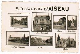 Souvenir D'Aiseau, Rue Lambot, Maison Communale, L'Ecole, A Nos Héros,.... (pk67083) - Aiseau-Presles