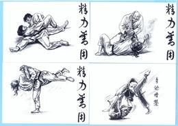 8 Different Judo Postcards Different Handles Very Nice ! - Arti Marziali