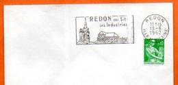 REDON  SES INDUSTRIES 1962 Lettre Entière N° MN 578 - Marcophilie (Lettres)