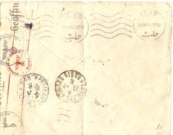 Syrie 1941 - Dos De Lettre D'Alep à ? - Cachets Poste Aux Armées - Geöffnet (censure) - Corbeaux R/N - Geprüft - Syria (1919-1945)