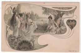 CPA Art Nouveau Type Femme Nu Nude Vienne Viennoise Non Circulé Série 903 Sans éditeur Dos Non Séparé - Vienne