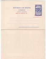 QUECHISLA, AL FONDO EL CHOROLQUE. BOLIVIA ENTIRE WRITTEN 1961 BY EUGENIO VON BOECK. ENTIER ENTERO -LILHU - Bolivia
