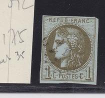 FRANCE CLASSIQUE - N°39C. OBLITERE.  Cote :  175€. - 1870 Uitgave Van Bordeaux