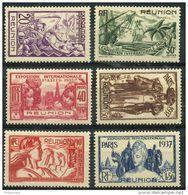 Reunion (1937) N 149 à 154 * (charniere) - Réunion (1852-1975)