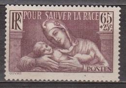 Marianne Et Enfant - FRANCE - Sauver La Race - N° 336 * - 1937 - Neufs