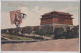 Beijing Pékin Corner Gate Of Peking City Affranchissement Timbre Chine China Stamp Cancellation - Chine