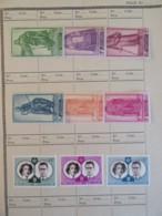Belgique + Congo-Belge / Katanga - Collection De Timbres Neufs + Qqles Ob. Dont Bloc 1960 Année Mondiale Du Réfugié - Belgique