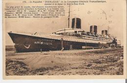 SAINT NAZAIRE - PAQUEBOT. CP Voyagée Le Normandie  Lancé à Saint Nazaire - Saint Nazaire