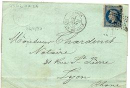 Paris - LAC Affr N° 29B Obl Etoile 13 Hôtel-de-Ville - 1849-1876: Période Classique