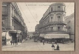 CPA 34 - MONTPELLIER - La Rue Maguelone - TB PLAN CENTRE VILLE TB ANIMATION TB TRAMWAY Chocolat LOUIT Verso - Montpellier