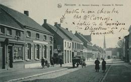 Hemixem / Hemiksem - St Bernard Steenweg - Met 2 Militairen - Mooie Straatanimatie - 1910 - Hemiksem
