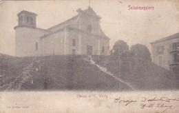 CARTOLINA - SALSOMAGGIORE ( PARMA) - CHIESA DI S. VITALE - VIAGGIATA PER BERGAMO ( FRANCOBOLLO ASPORTATO) - Parma