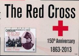 Saint Vincent Grenadines Canouan 2013 Nobel Red Cross Croix Rouge  MNH - Nobelprijs