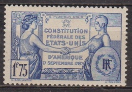 Constitution Des Etats Unis - FRANCE - 1937 - N° 357 * - Neufs