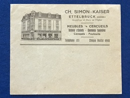 Luxembourg - Enveloppe - Meubles & Cercueils Ch. Simon-Kaiser Ettelbruck (1946) - Briefe U. Dokumente
