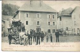 Abries La Place ,diligence Postale ,départ Du Courrier à 30 Km De La Gare Montdauphin Guillestre,carlhian - Altri Comuni