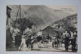 CORTE. Départ Des Bergers Pour La Montagne - Autres Communes