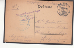 Carte Prisonnier De Guerre 1916  Camp De  SOLTAU - WW I