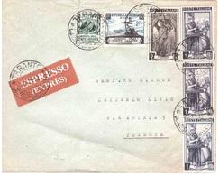 ESPRESSO CON £ 10 E £ 60 FORZE ARMATE + LAVORO - 1946-.. République