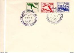 Deutsches Reich 1935: Michel 600-602 Auf Brief Mit O GARMISCH-PARTENKIRCHEN 13.2.36 (lose Gestempelt 13.00 Euro Katalog) - Winter 1936: Garmisch-Partenkirchen
