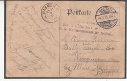 Carte Prisonnier De Guerre 1915  Camp De  SOLTAU - Guerra '14-'18