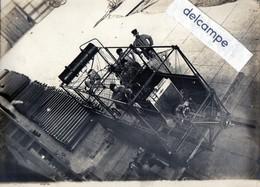 Grande Photo Rare - AVIATION - BALLON - MONTGOLFIERE - Structure , Partie Mécanique . - Aviation
