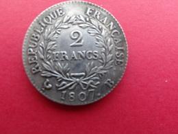 France  2 Francs  Napoleon  1807 B  Km 252 - France