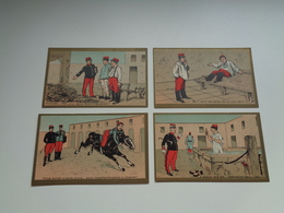 Chromo ( 1217 )   Lot De 4 Chromos  Lot Van 4 Chromo' S  Sans Publicité  Zonder Reclame - Kaufmanns- Und Zigarettenbilder