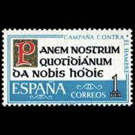 CAM.CONTRA HAMBRE - AÑO 1963 - Nº EDIFIL 1512 - 1931-Hoy: 2ª República - ... Juan Carlos I
