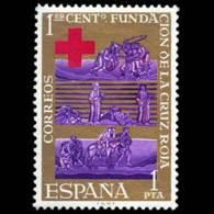 CENTEN. CRUZ ROJA - AÑO 1963 - Nº EDIFIL 1534 - 1931-Hoy: 2ª República - ... Juan Carlos I