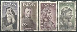 PERSONAJES - AÑO 1963 - Nº EDIFIL 1536-39 - 1931-Hoy: 2ª República - ... Juan Carlos I