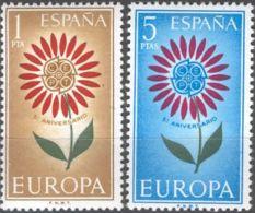 EUROPA - AÑO 1964 - Nº EDIFIL 1613-14 - 1931-Hoy: 2ª República - ... Juan Carlos I